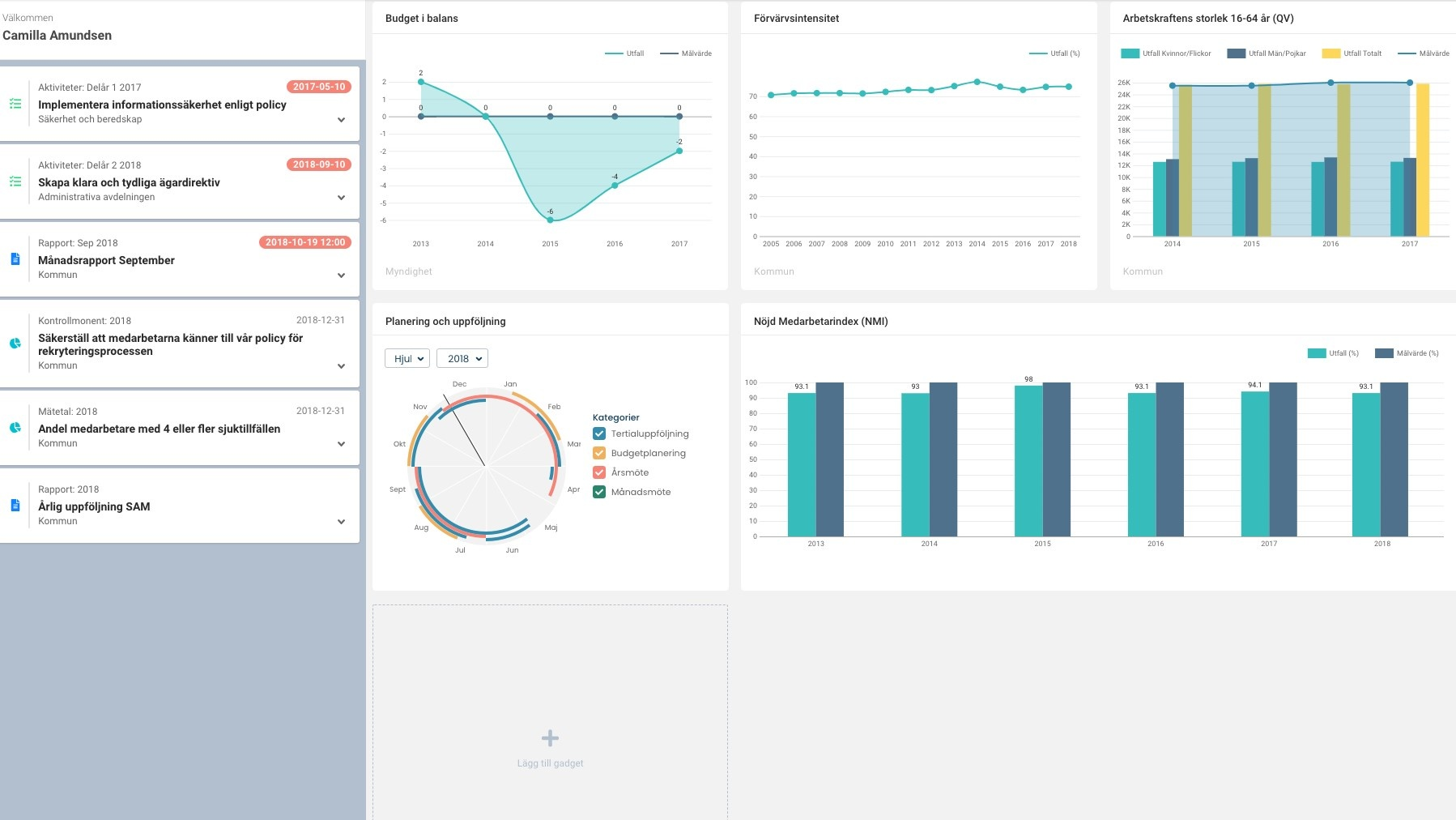8. Visuell dashboard